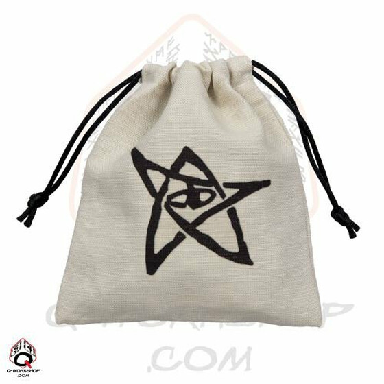 Dice bag Call of Cthulhu ivory/black