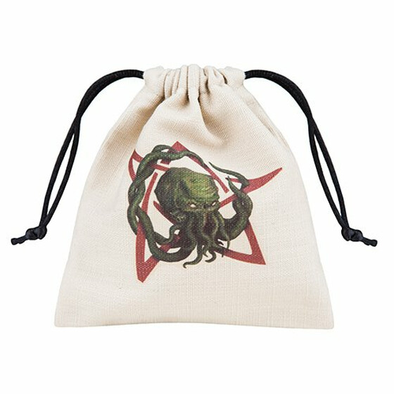 Dice bag Call of Cthulhu ivory/multi color