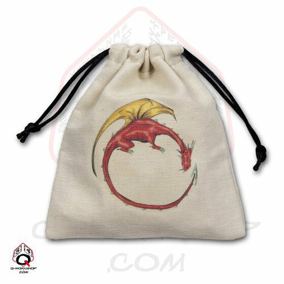 Dice bag Dragon ivory/multi color