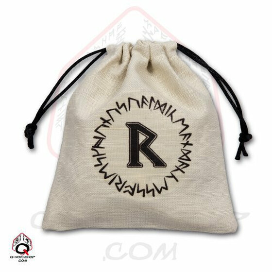 Dice bag Runic ivory/black