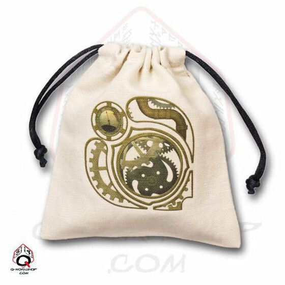 Dice bag Steampunk ivory/gold