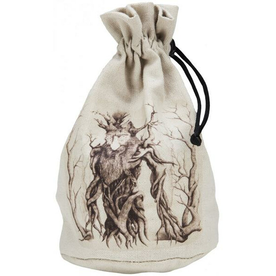 Dice bag XL Forest goblin ivory/black