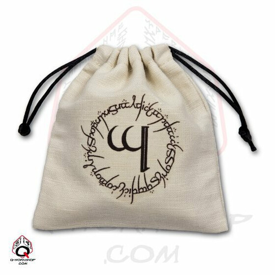 Dice bag Elvish ivory/black
