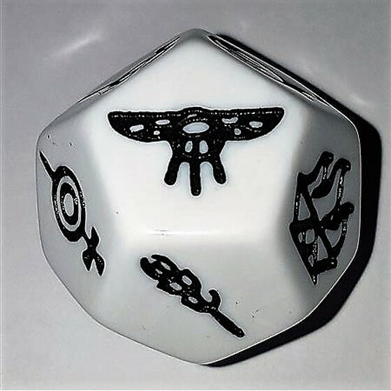 The Dark Eye God Dice D12 white