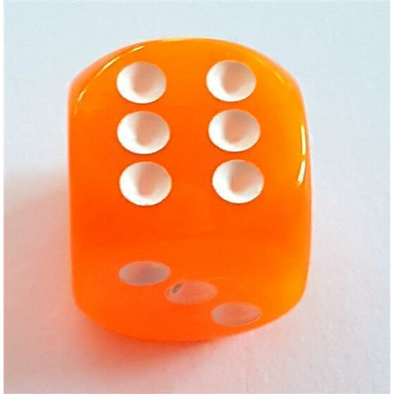 D6 16mm translucent neon orange