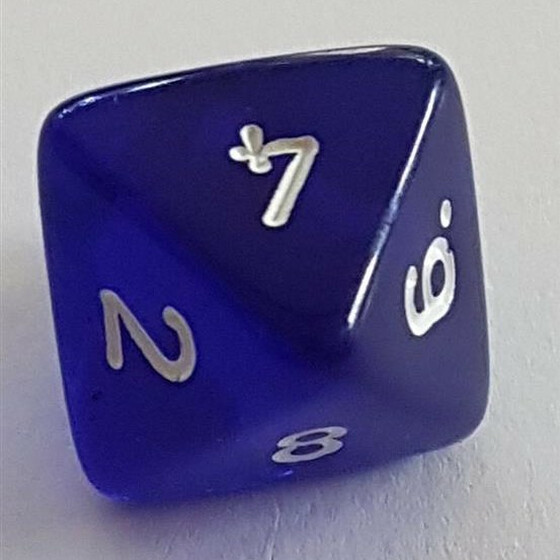 Translucent Blue D8