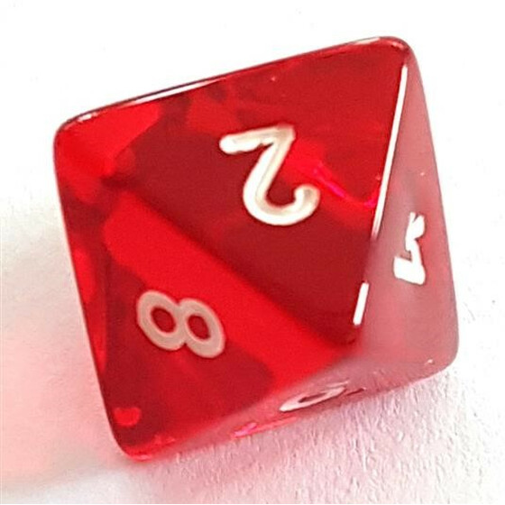 Translucent red D8