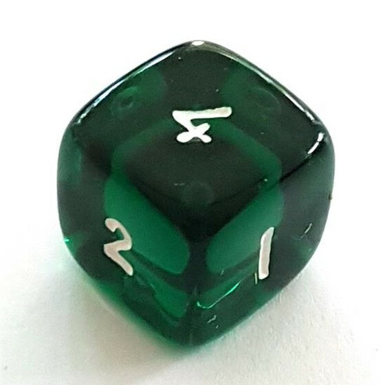 Translucent green D6