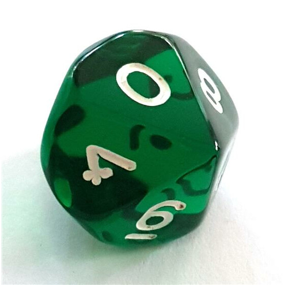 Translucent green D10