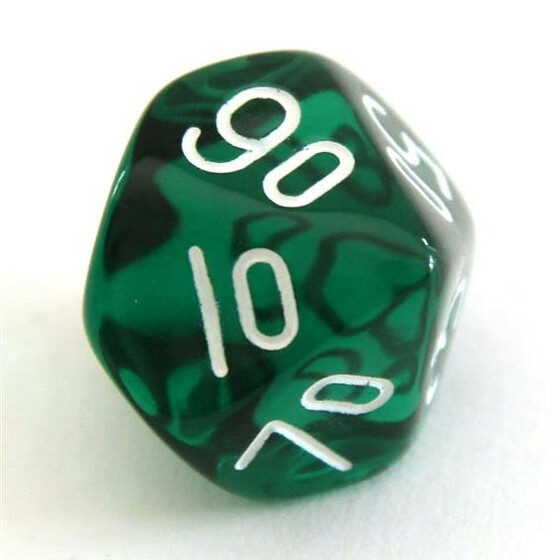 Translucent green D10%