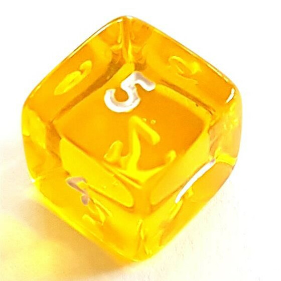 Translucent yellow D6