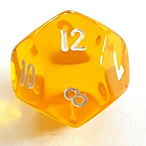 Translucent yellow D12