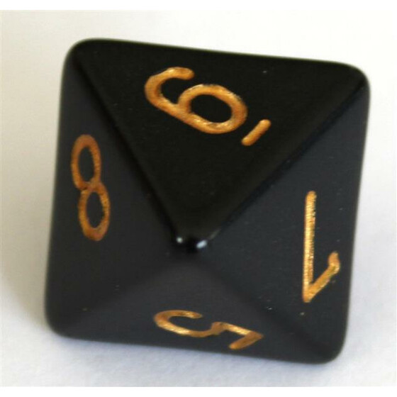 Chessex Opaque Black/Gold W8