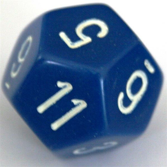 Chessex Opaque Blue W12