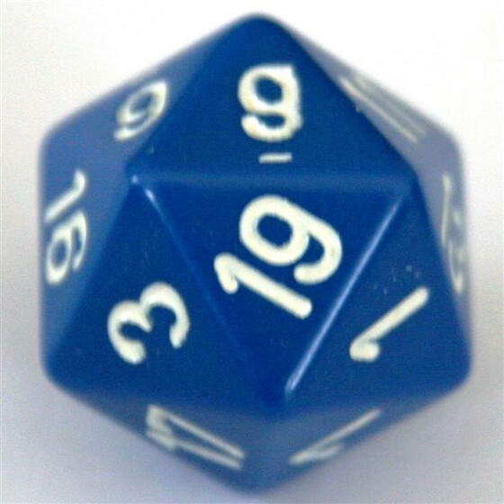 Chessex Opaque Blue W20