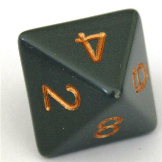 Chessex Opaque Dark Grey/Copper W8