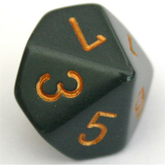 Chessex Opaque Dark Grey/Copper W10