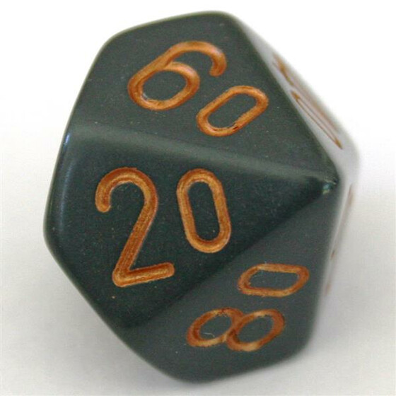 Chessex Opaque Dark Grey/Copper W10%