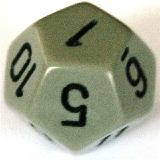 Chessex Opaque Dark Grey/Black W12