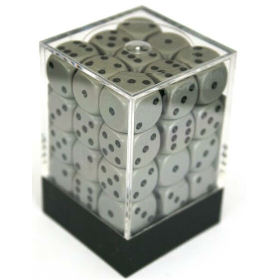 Chessex Opaque Dark Grey/Black D6 12mm Set