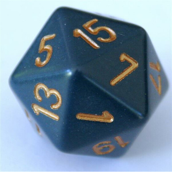 Chessex Opaque Dusty Blue D20