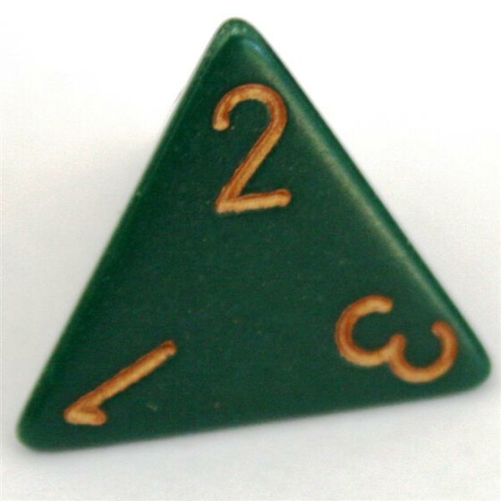 Chessex Opaque Dusty Green D4