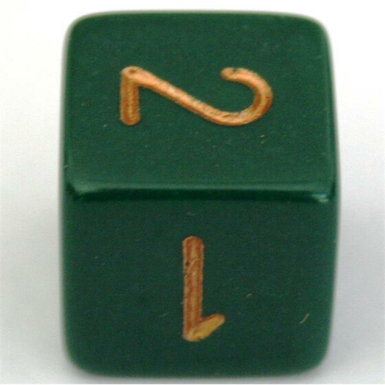 Chessex Opaque Dusty Green D6