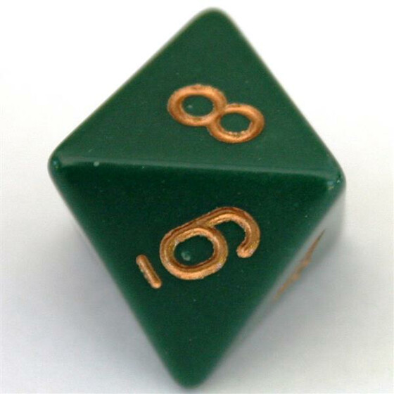 Chessex Opaque Dusty Green D8