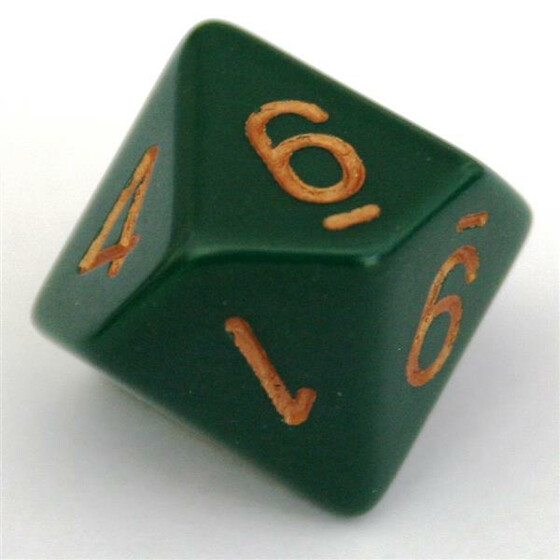 Chessex Opaque Dusty Green D10