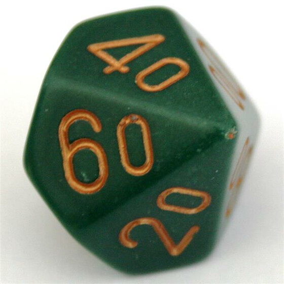 Chessex Opaque Dusty Green D10%