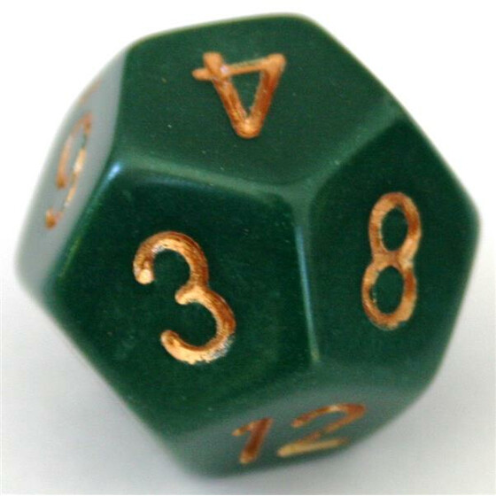 Chessex Opaque Dusty Green D12
