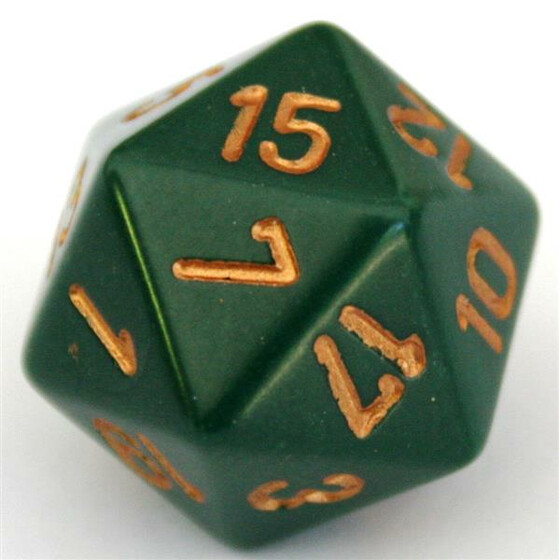 Chessex Opaque Dusty Green D20