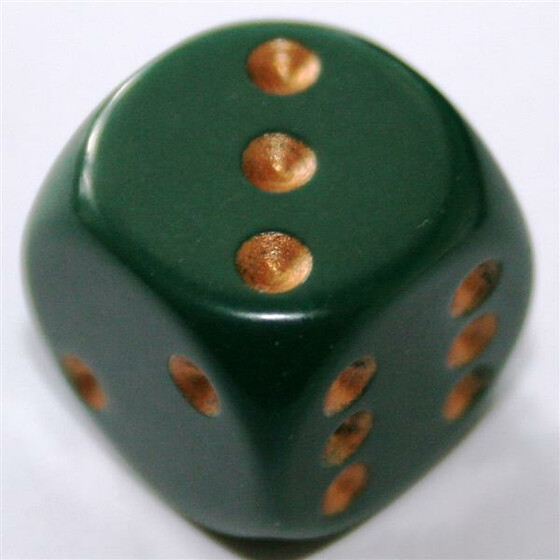 Chessex Opaque Dusty Green D6 16mm