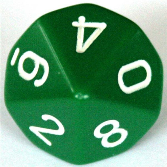Chessex Opaque Green W10