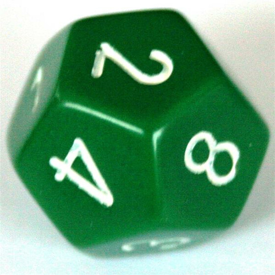 Chessex Opaque Green W12