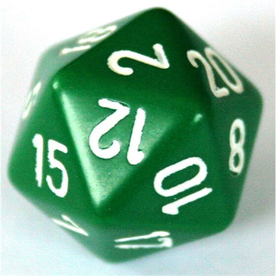 Chessex Opaque Green W20