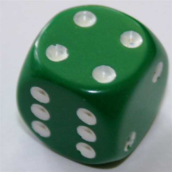Chessex Opaque Green W6 16mm