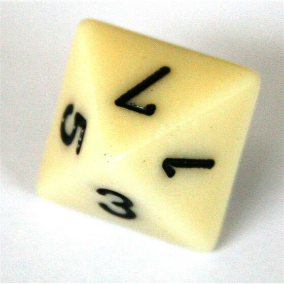 Chessex Opaque Ivory W8