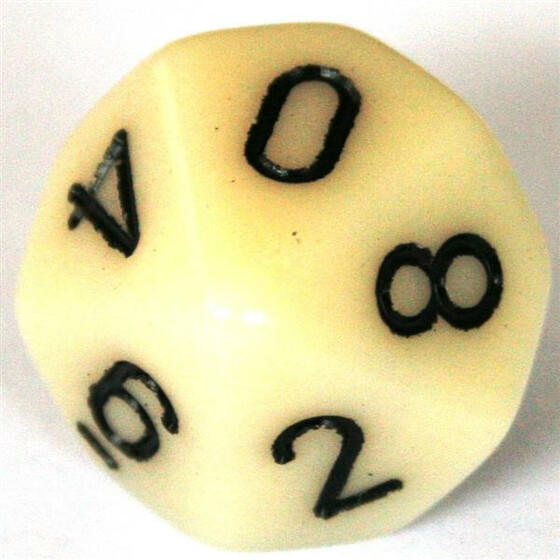 Chessex Opaque Ivory D10