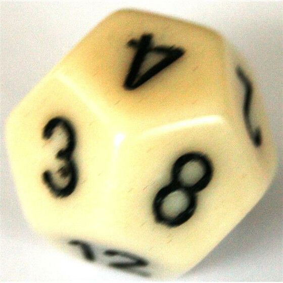 Chessex Opaque Ivory W12