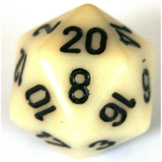 Chessex Opaque Ivory D20