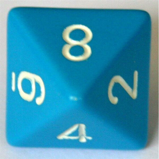 Chessex Opaque Light Blue D8