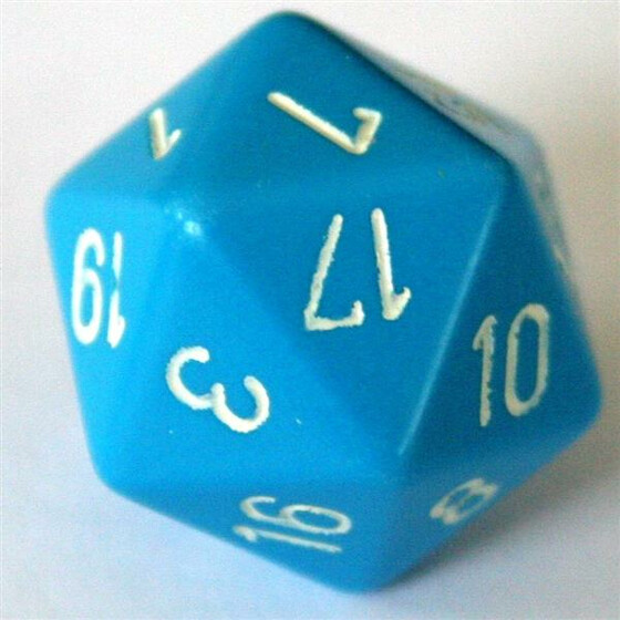 Chessex Opaque Light Blue D20