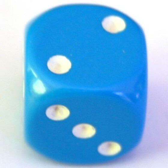 Chessex Opaque Light Blue D6 12mm