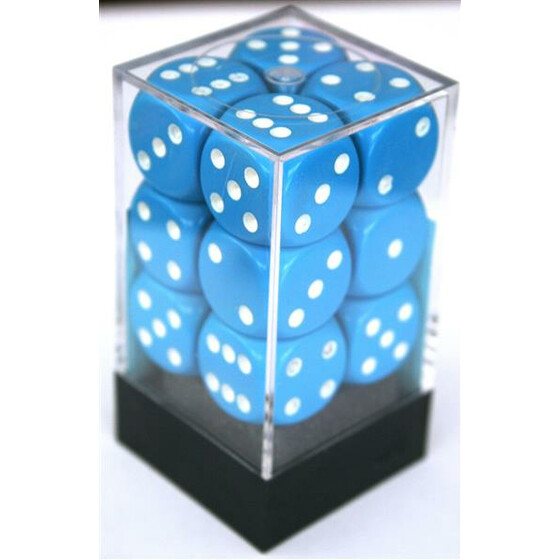 Chessex Opaque Light Blue D6 16mm Set