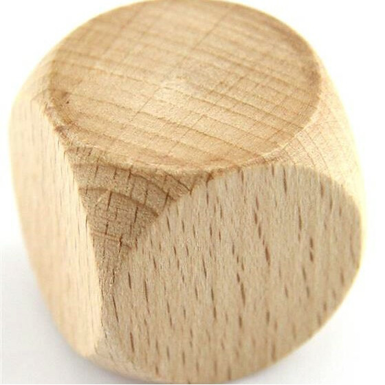 Wood Dice D6 30mm Blanko (dark)