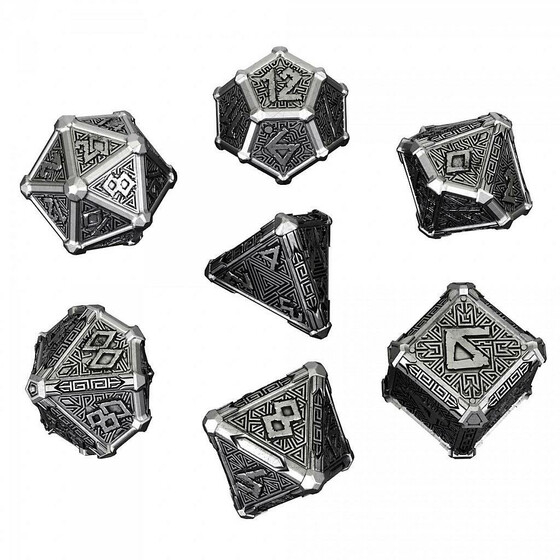 Metal dice mythical Set