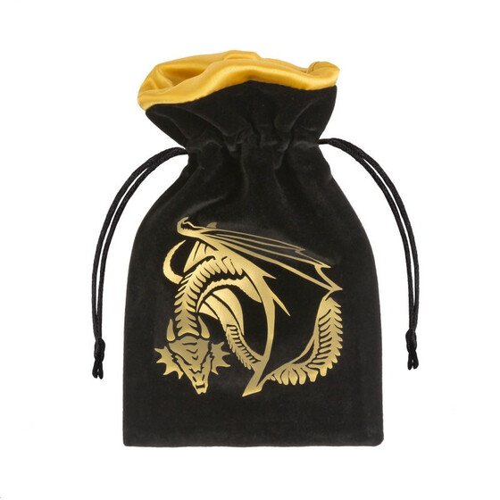 Dice bag dragon black/gold