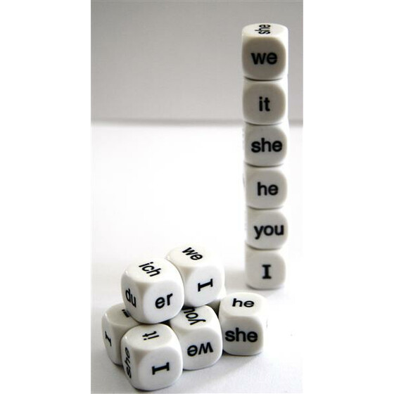 English Pronoun dice D6