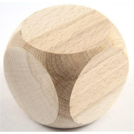 Wood Dice D6 30mm Blanko beech